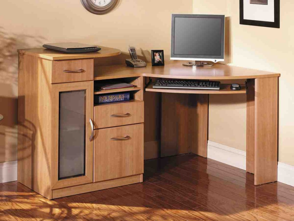 Solid Wood Corner Computer Desk