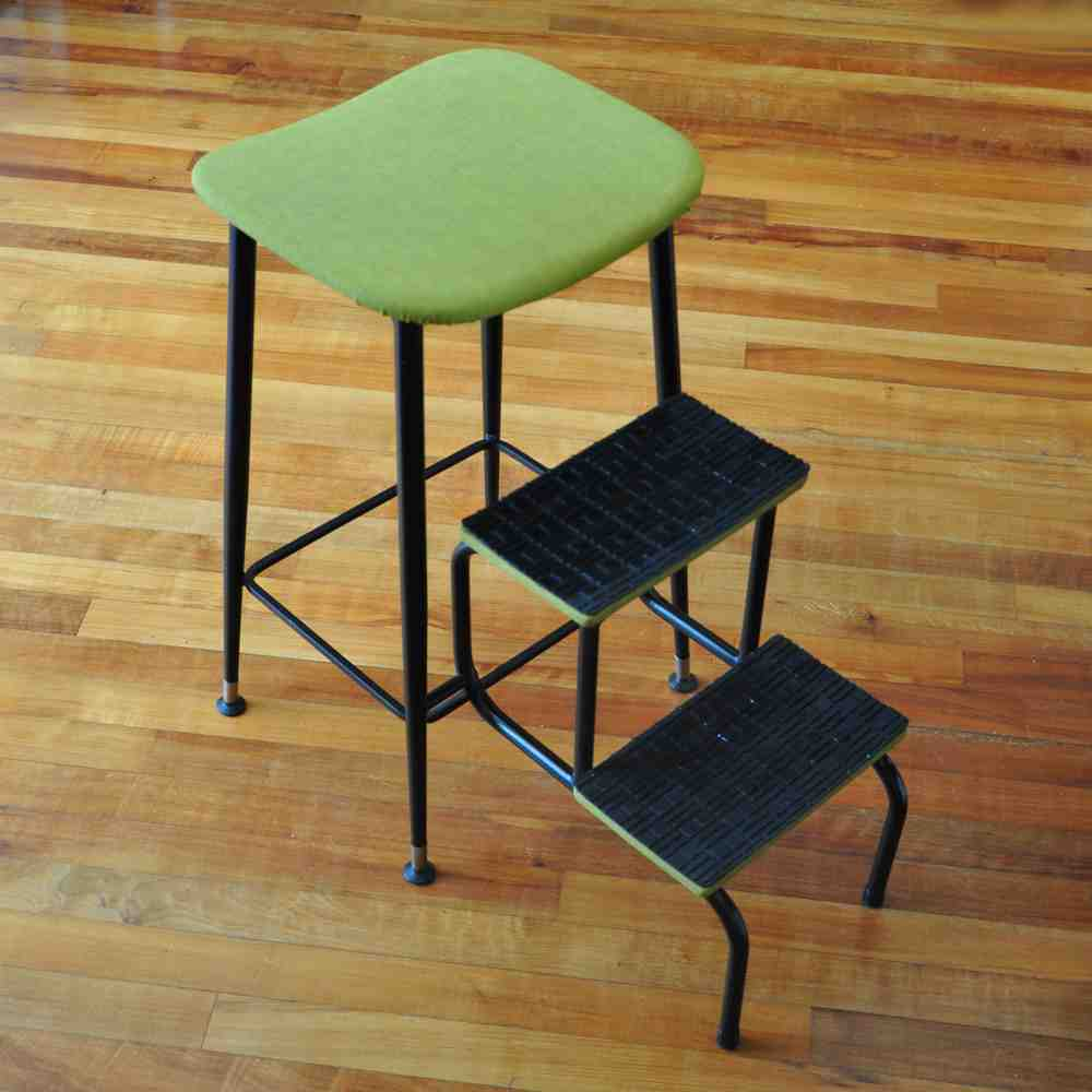 Vintage Step Stool Chair
