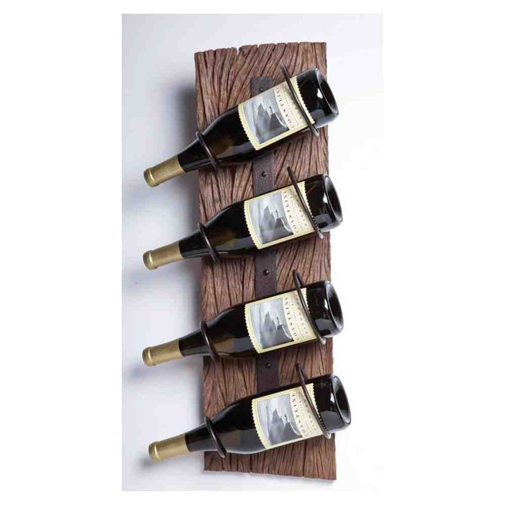 Wall Wine Rack With Glass Holder