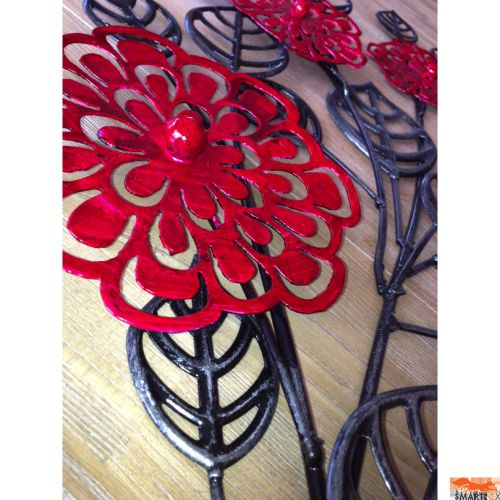 Red Metal Wall Decor