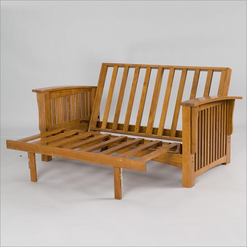 Wood Frame Futon With Mattress