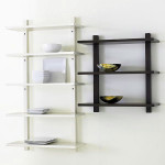 Black Wood Wall Shelves