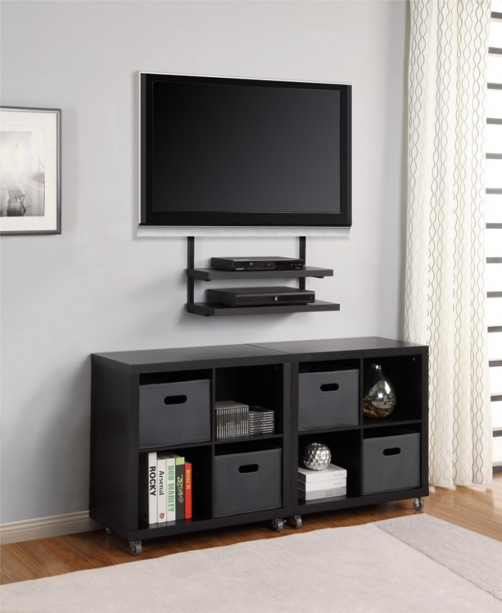 Corner Tv Wall Mount With Shelves Decor Ideas