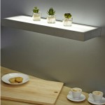 Floating Shelves With Lights