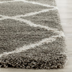 Grey Shag Area Rug