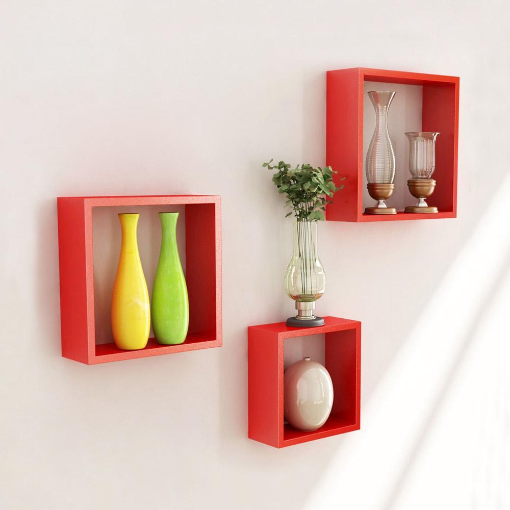 Wall Mounted Cube Shelves