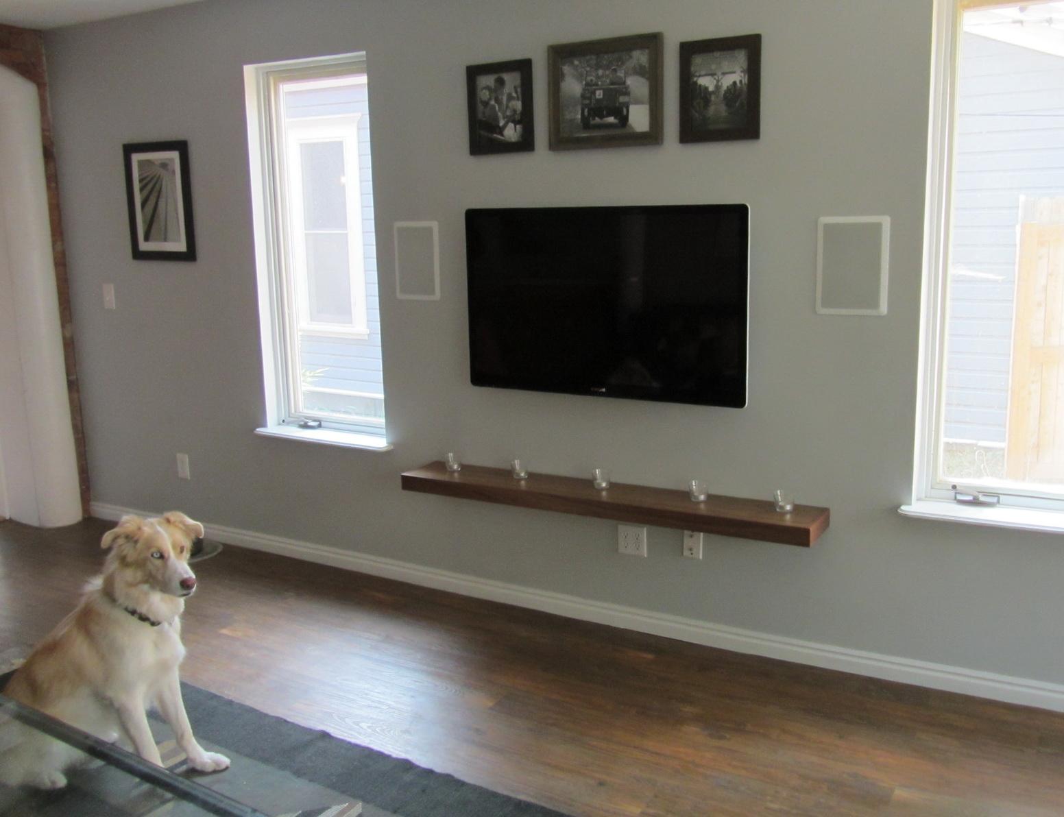 Shelves For Wall Mounted Tv Decor Ideas
