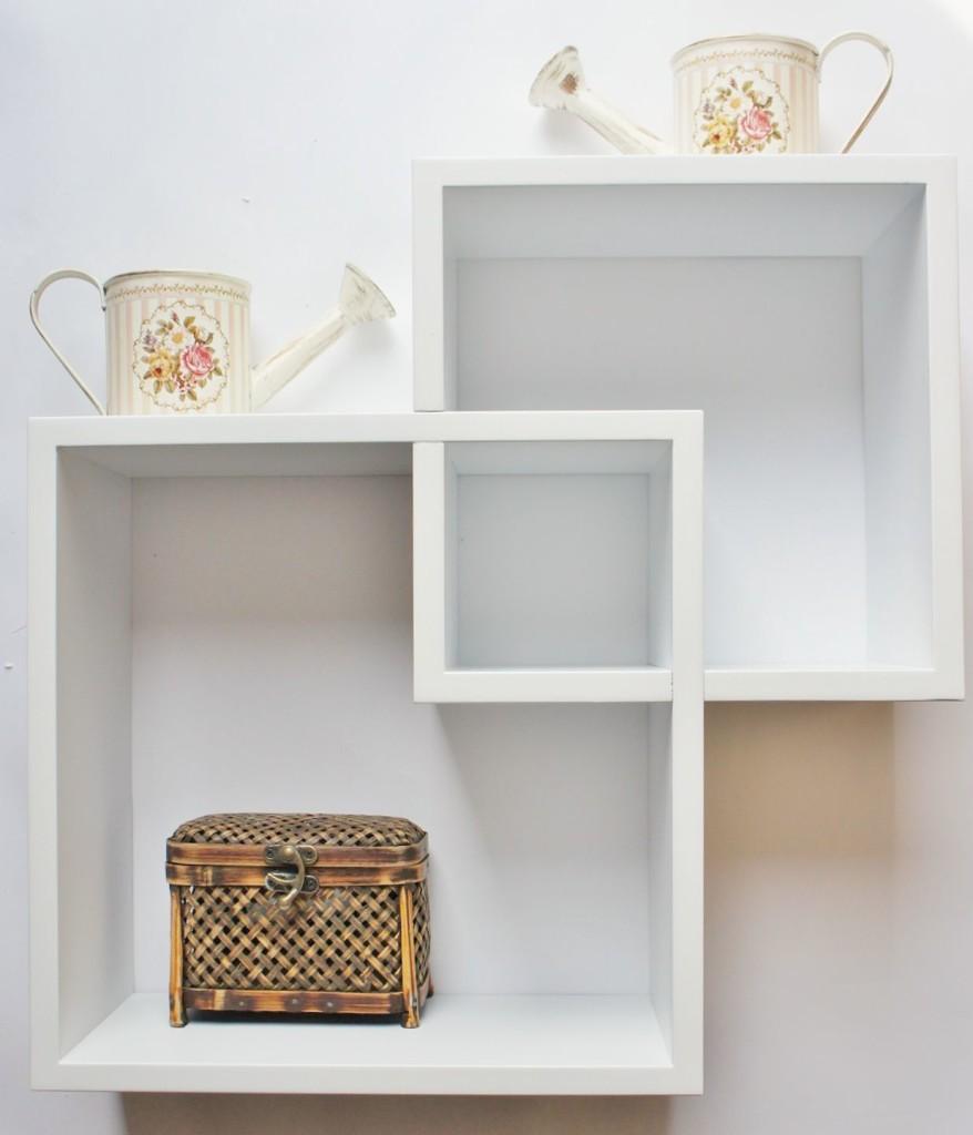 White Floating Shelves