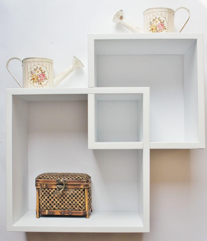 White Floating Shelves Decor Ideas