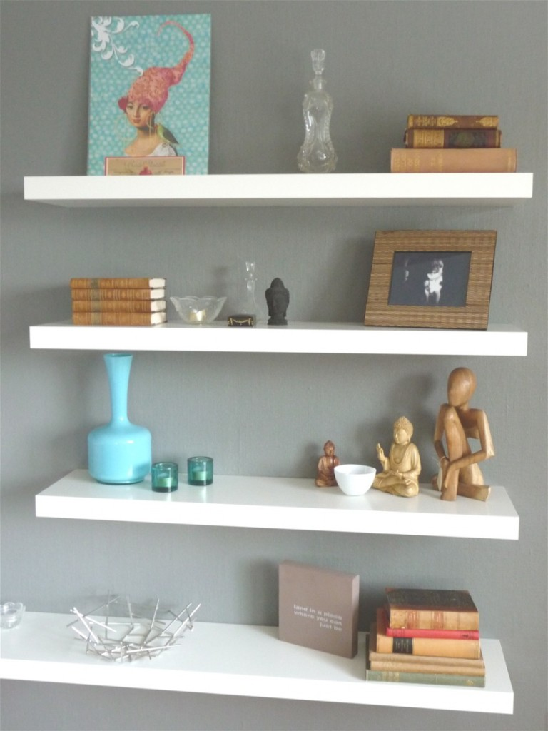 White Wood Wall Shelves