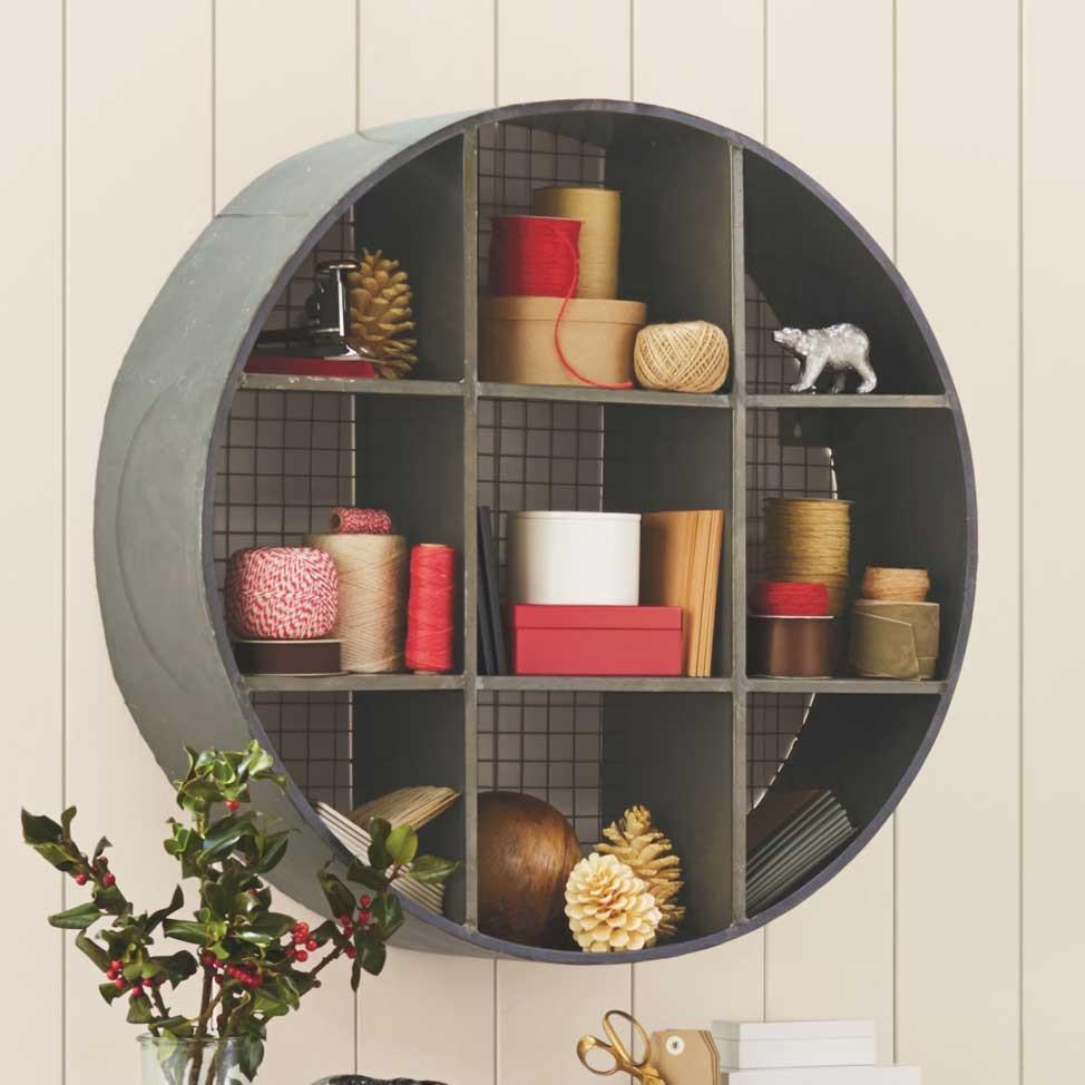 Wood And Metal Wall Shelves