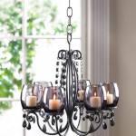 Black Candle Chandelier