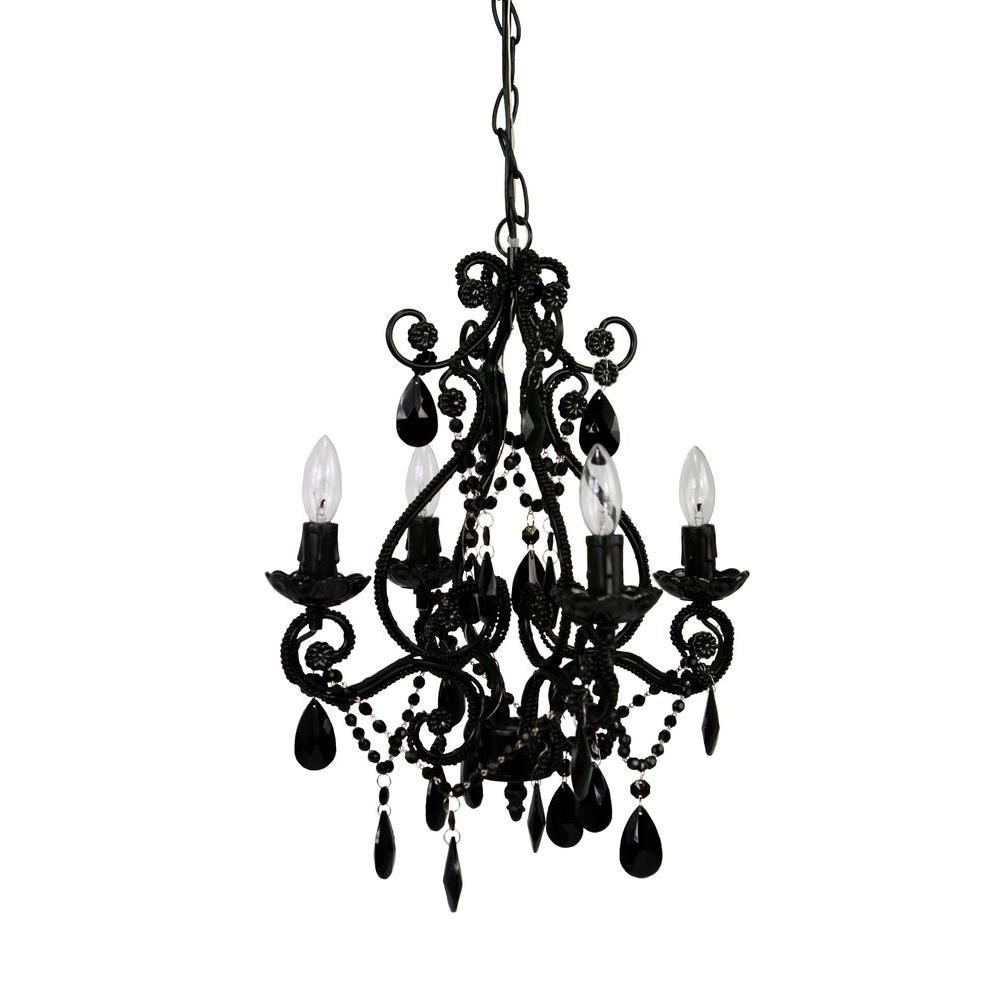 Mini Black Chandelier