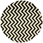 Black And White Chevron Area Rug