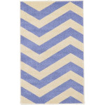 Blue Chevron Area Rug