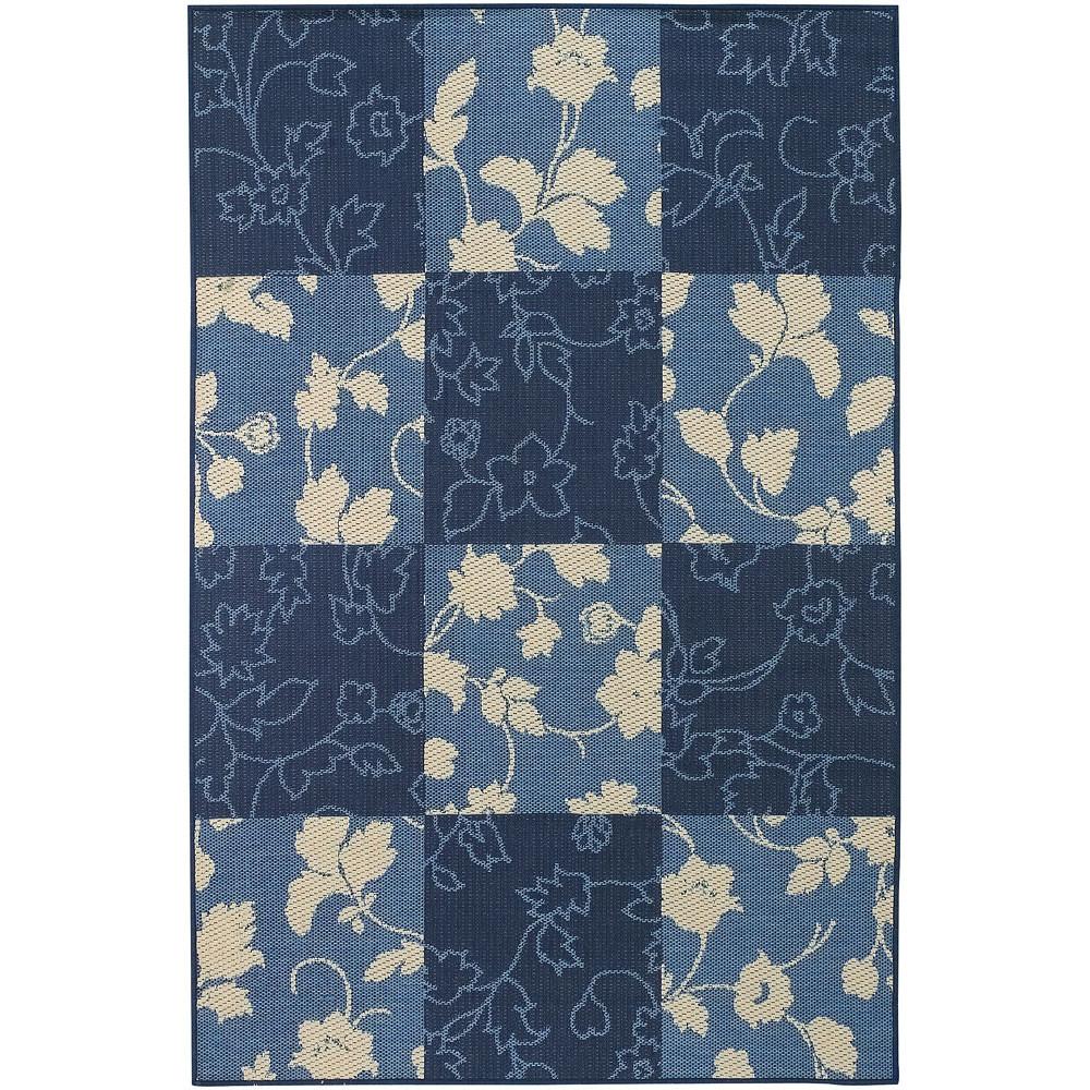 Blue Floral Area Rug
