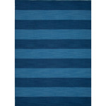 Blue Striped Area Rug