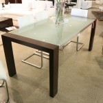 Frosted Glass Top Dining Table