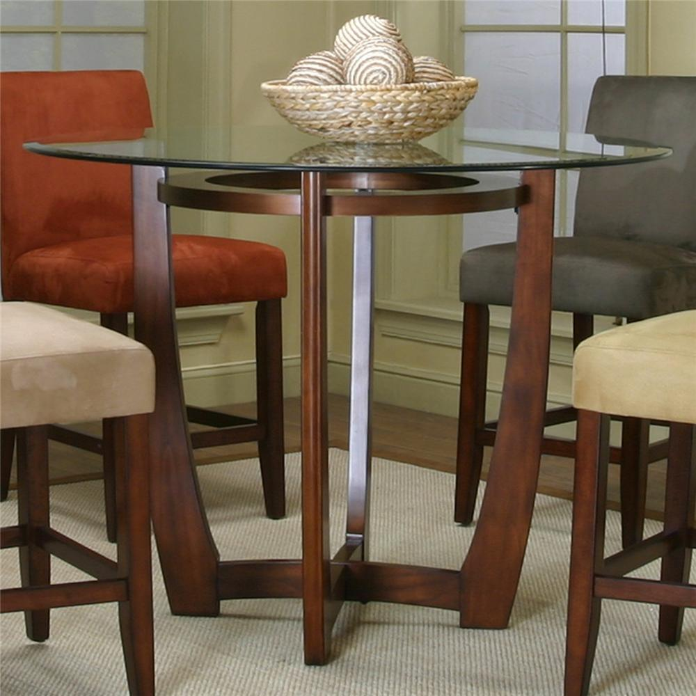 Glass Top Pedestal Dining Table