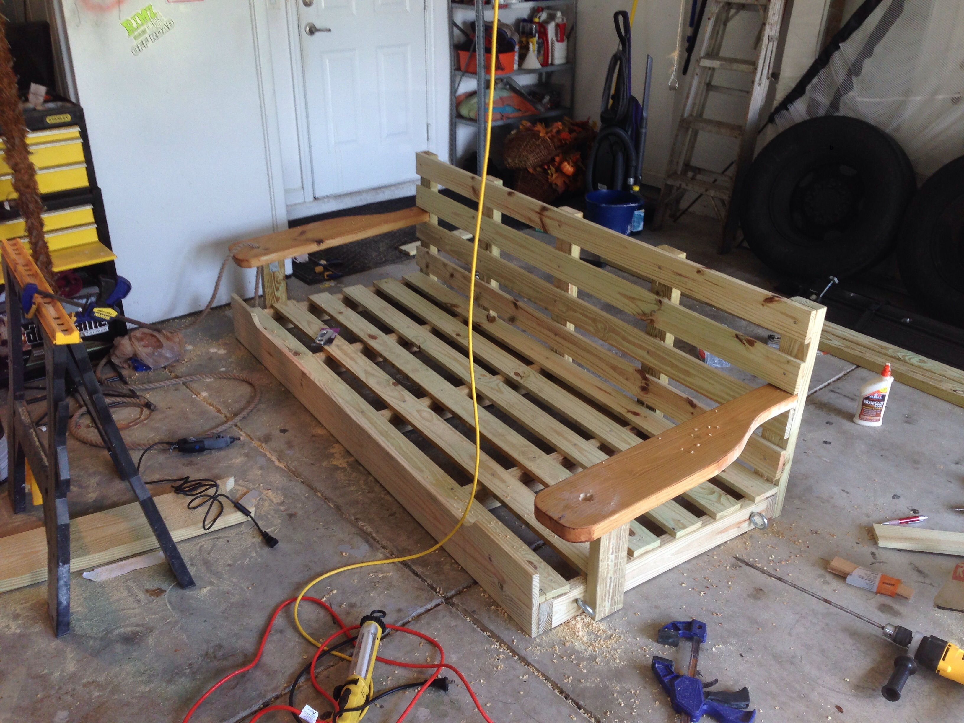 Picture of: How To Make A Porch Swing Bed Decor Ideas