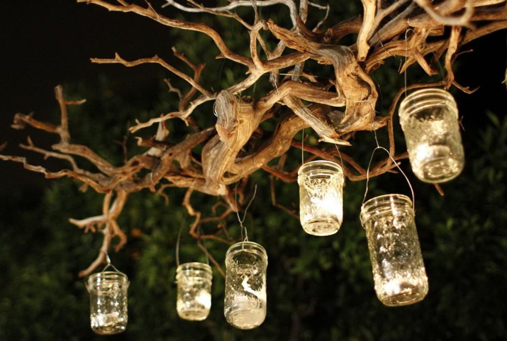 hanging candle chandelier outdoor