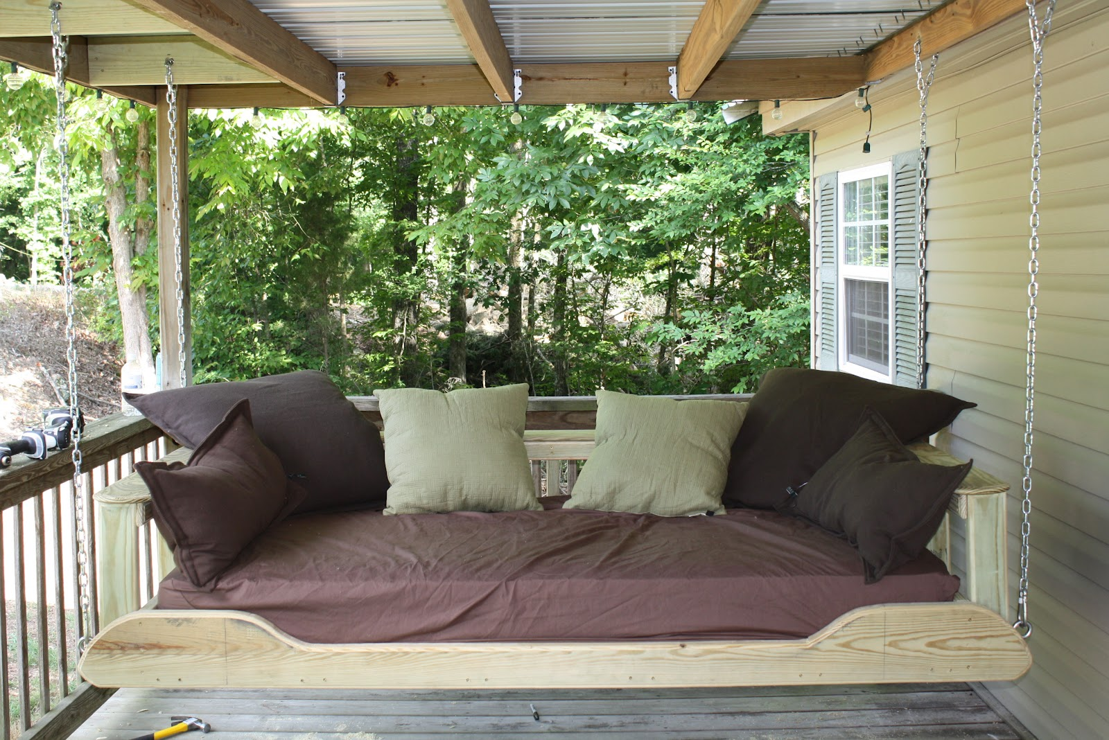 Picture of: Outdoor Swing Bed Plans Decor Ideas