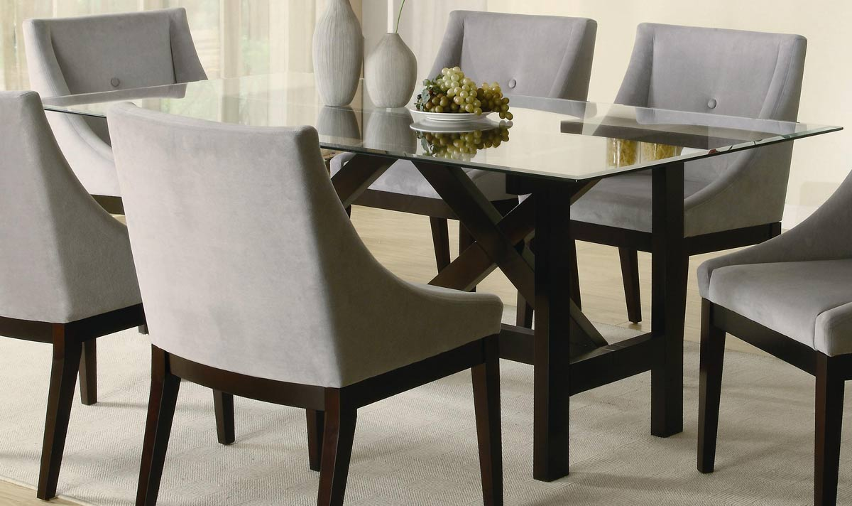 Rectangle Glass Top Dining Table - Decor Ideas