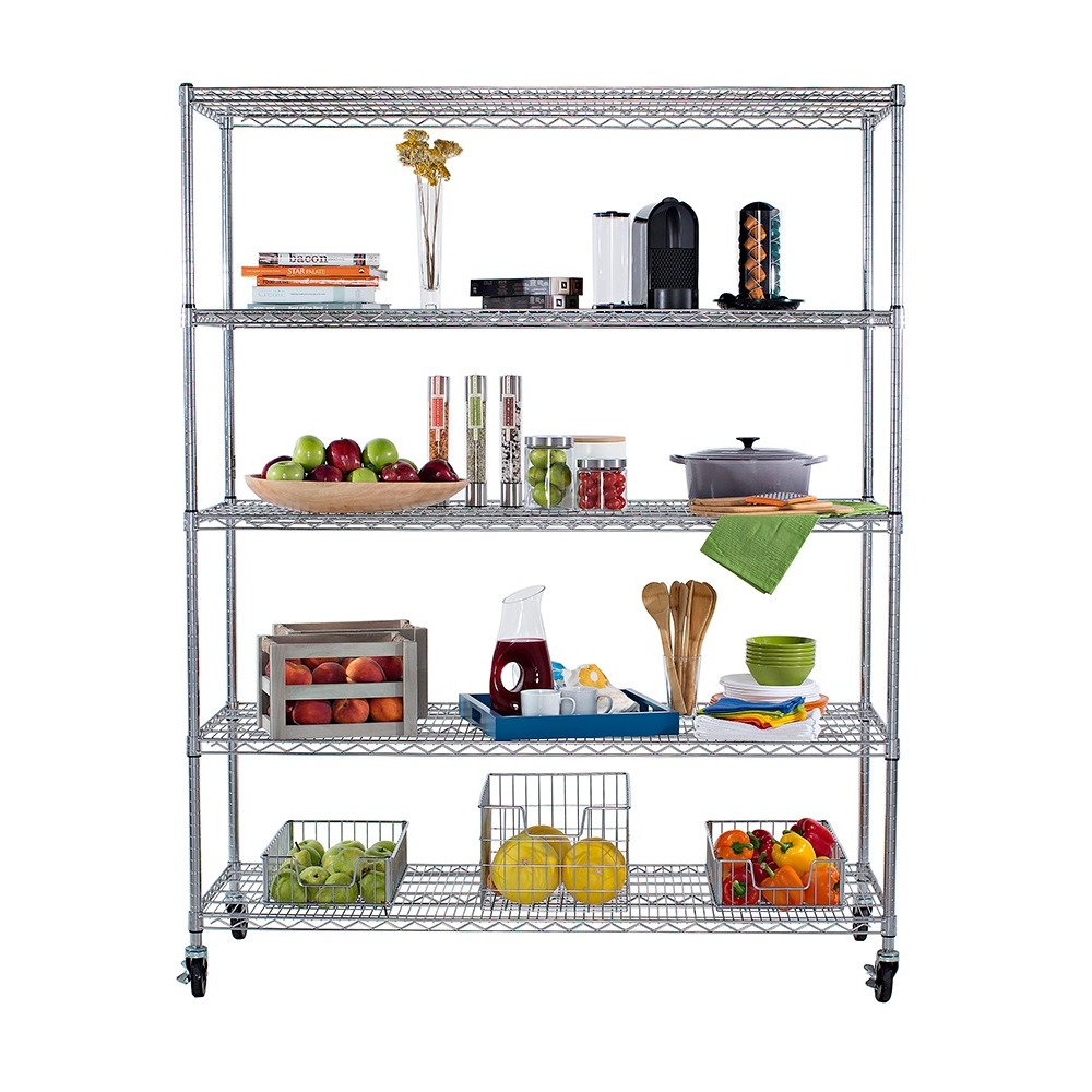 5 Tier Wire Shelving