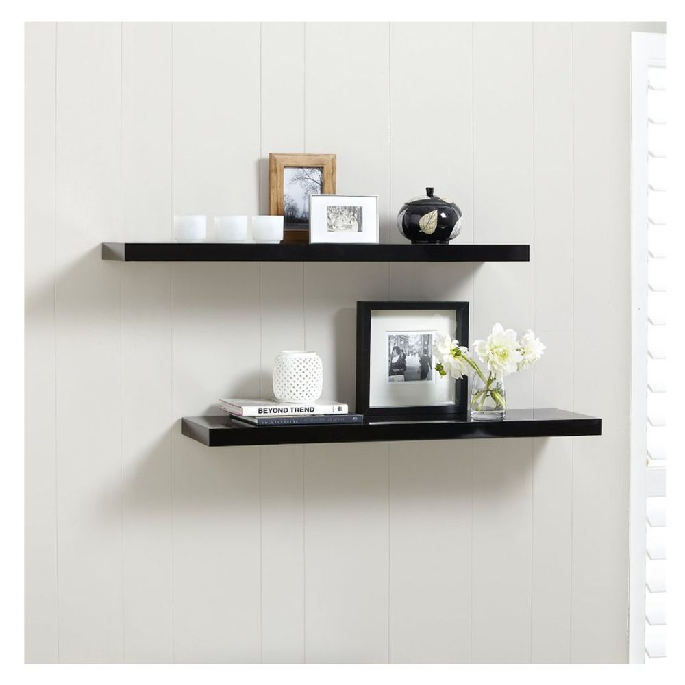 Black Floating Shelves