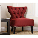 Burgundy Accent Chair