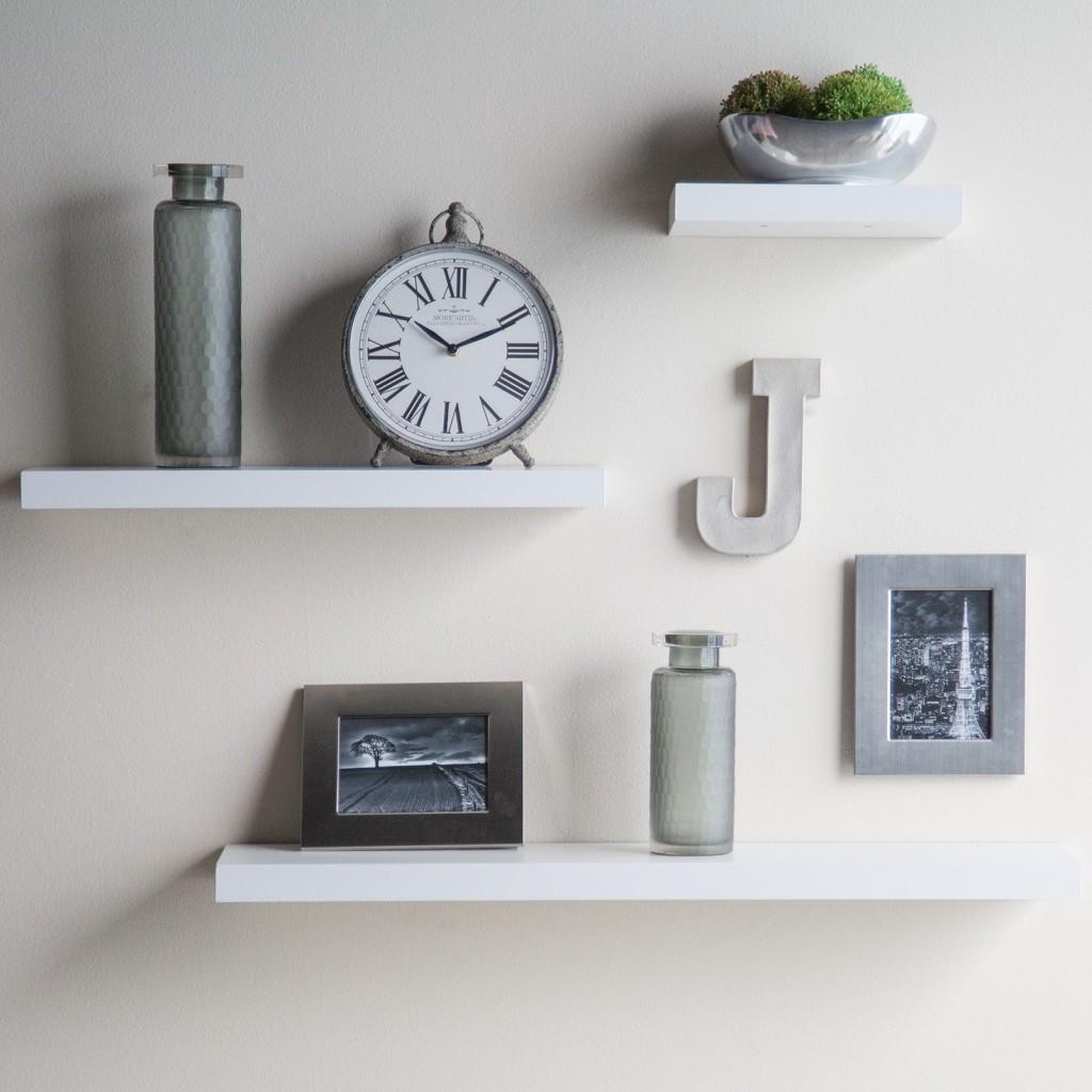 White Floating Wall Shelves