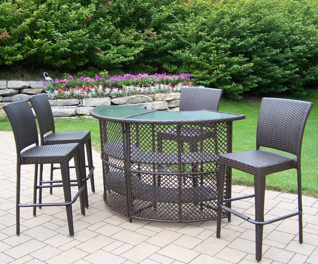 bar height patio sets