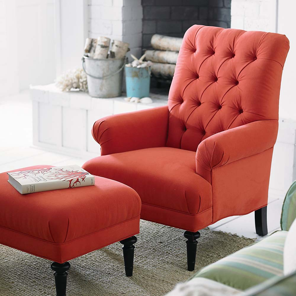 Red Accent Chairs For Living Room
