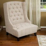White Leather Accent Chair