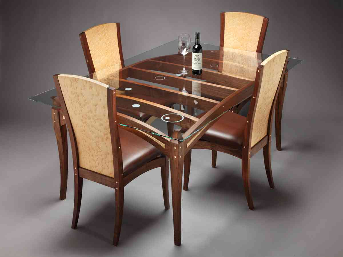 Glass Top Dining Table Set 4 Chairs Decor Ideas