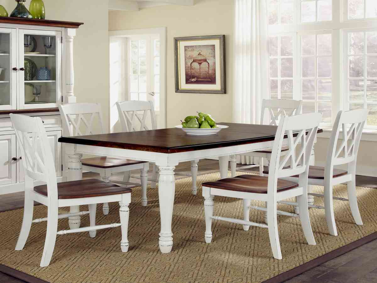 White Kitchen Table And Chairs Set Decor Ideas