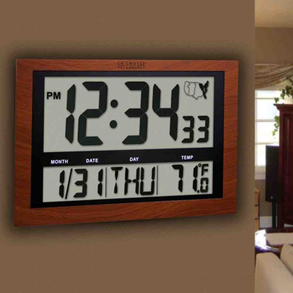 Atomic Digital Wall Clock Large Display