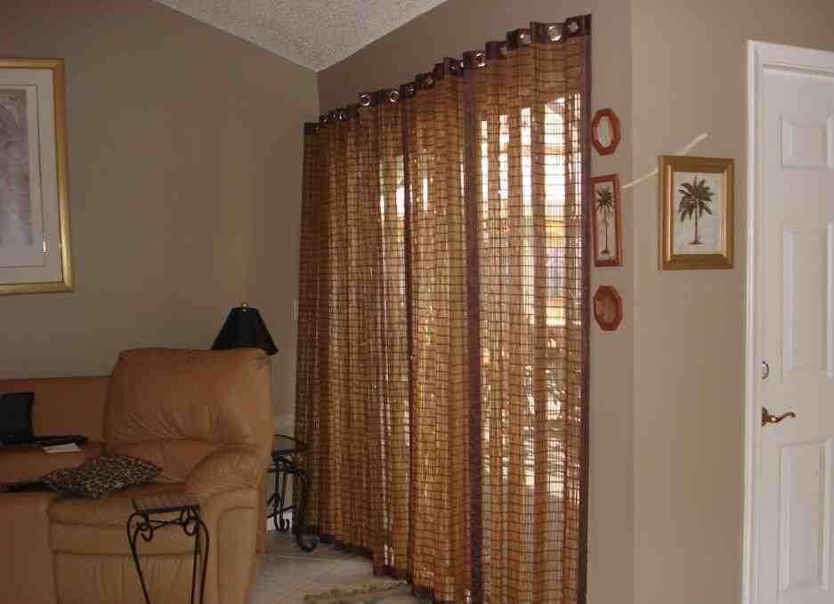 Bamboo Vertical Blinds Sliding Glass Doors