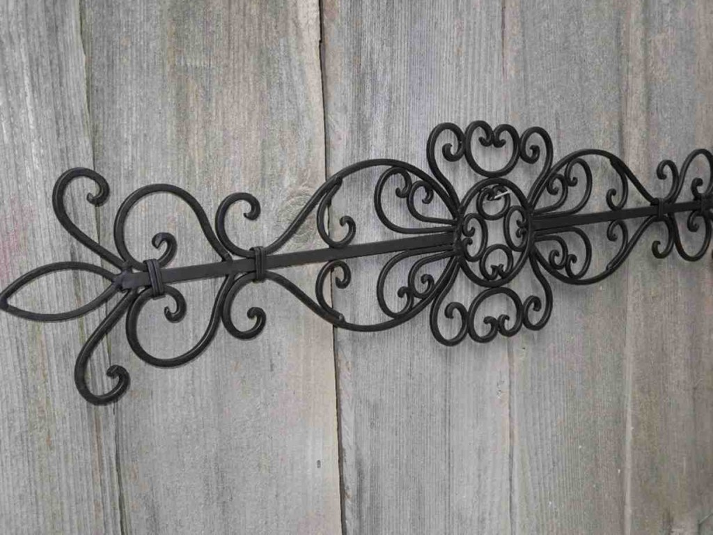 Black Wrought Iron Wall Decor