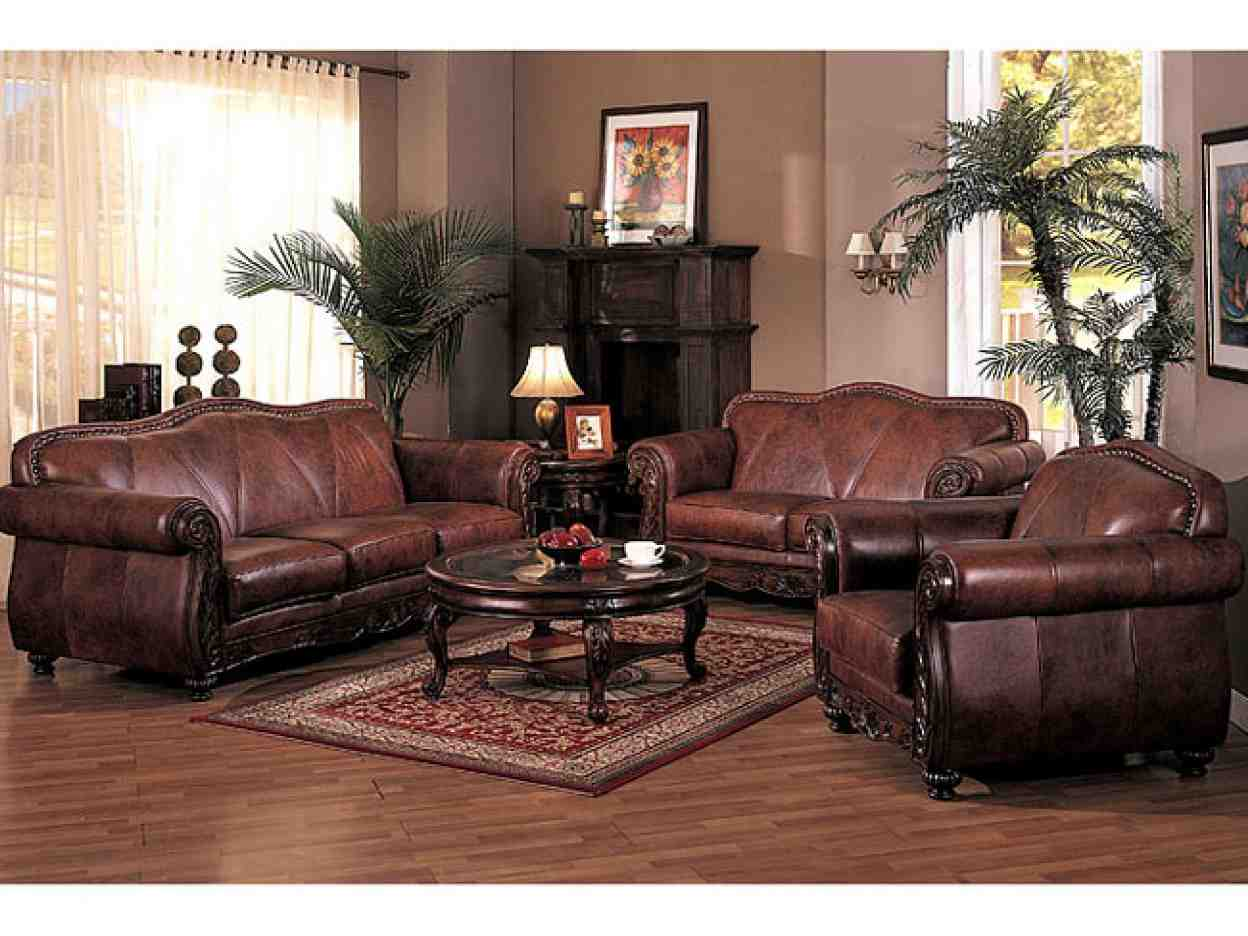 Brown Leather Living Room Set - Decor Ideas