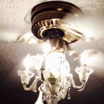 Ceiling Fan with Chandelier Light Kit