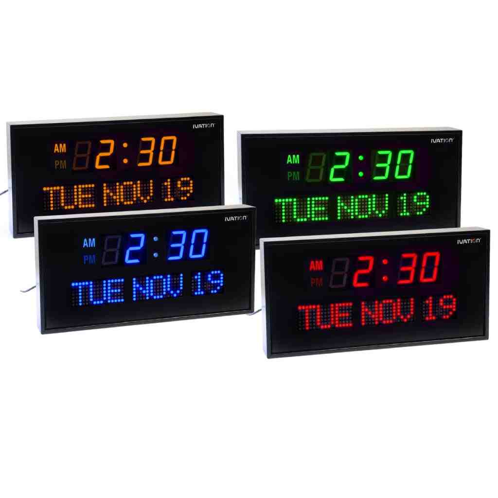 Digital Wall Clock with Date