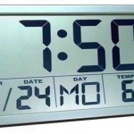 Large Digital Atomic Wall Clock
