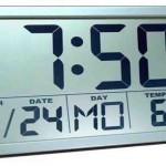 Large Digital Atomic Wall Clock