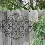 Large Outdoor Wrought Iron Wall Decor