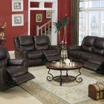 Leather Reclining Living Room Sets