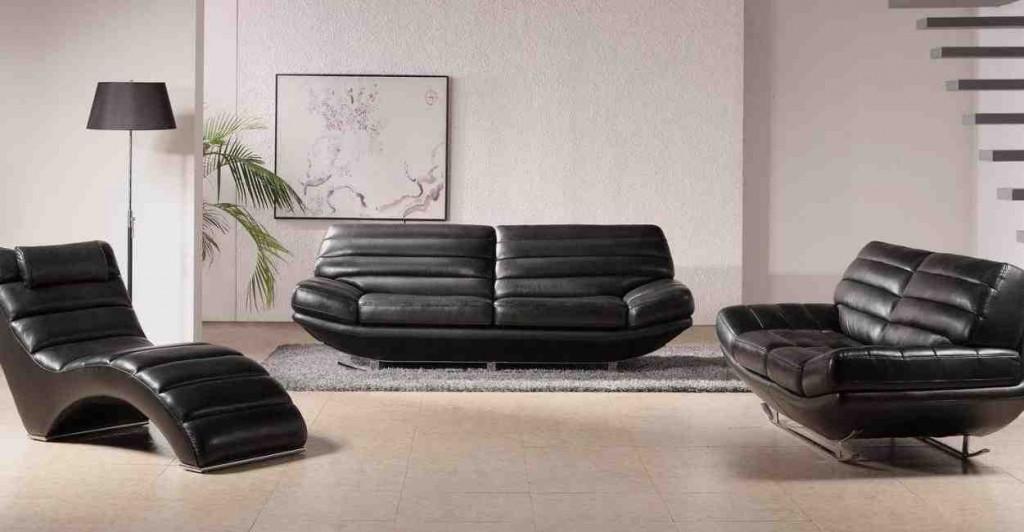 Modern Leather Living Room Furniture Sets