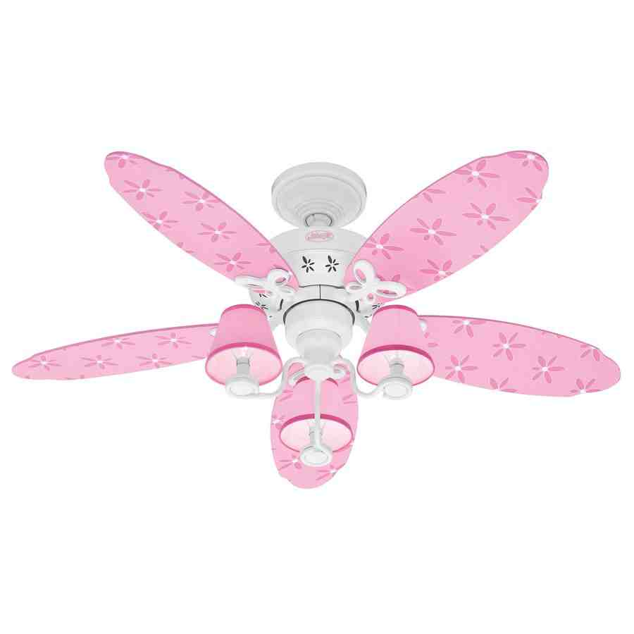 Pink Chandelier Ceiling Fan