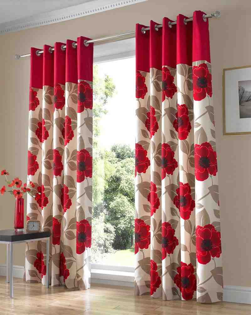 Red Curtains Living Room