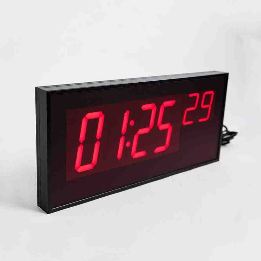 Red Digital Wall Clock